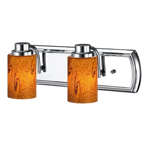 Design Classics Lighting Bath Vanity Light with 2-Lights in Chrome 1202-26 GL1001C