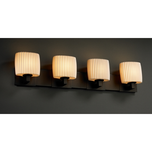 Justice Design Group Justice Design Group Limoges Collection Bathroom Light POR-8924-30-PLET-DBRZ