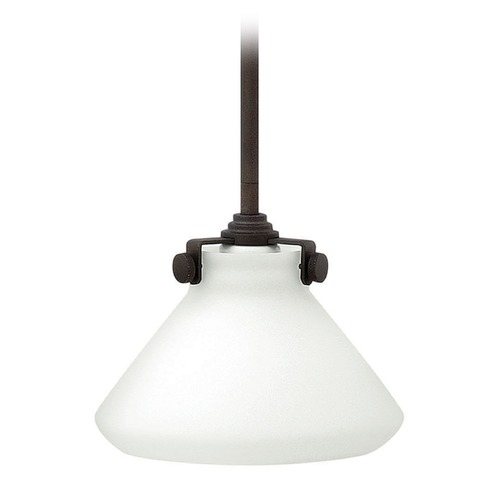 Hinkley Lighting Hinkley Lighting Congress Oil Rubbed Bronze LED Mini-Pendant Light with Conical Shade 3130OZ-LED