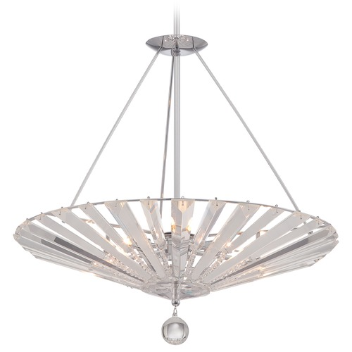 Quoizel Lighting Quoizel Platinum Collection Superior Polished Chrome Pendant Light with Conical Shade PCSP2823C