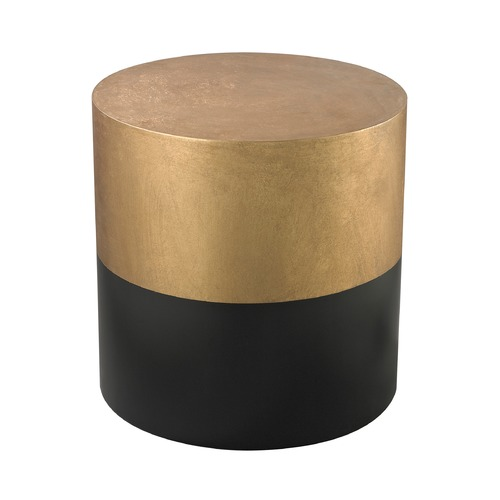 Dimond Home Black And Gold Draper Drum Table 114-121