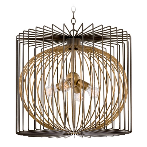 Kalco Lighting Kalco Metro Iii Bronze Gold Pendant Light 502452BZG