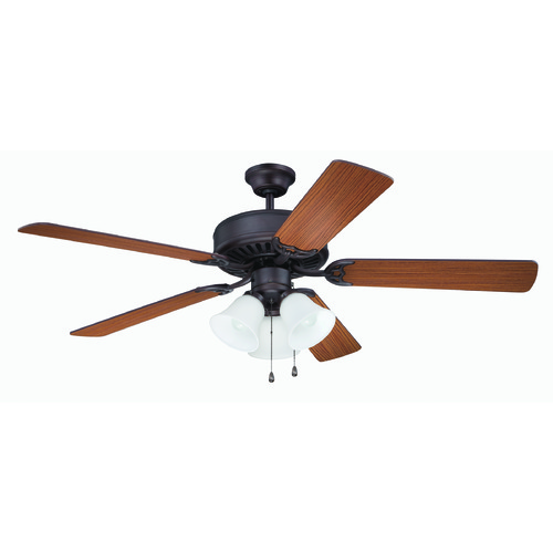 Craftmade Lighting Craftmade Pro Builder 205 Aged Bronze Brushed Ceiling Fan with Light K11204
