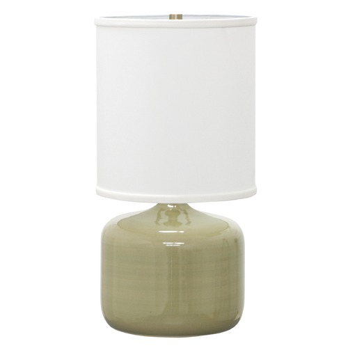 House of Troy Lighting House of Troy Scatchard Celadon Table Lamp with Cylindrical Shade GS120-CG