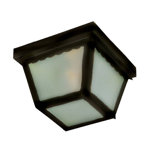 Maxim Lighting Close To Ceiling Light with White Glass in Black Finish 6204FTBK