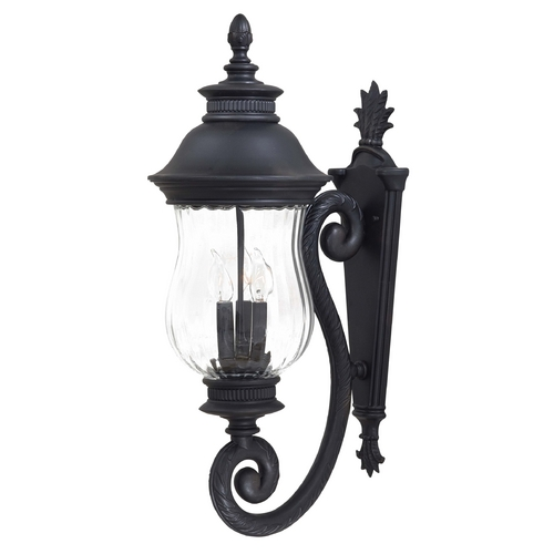 Minka Lavery Outdoor Wall Light with Clear Glass in Heritage Finish 8901-94
