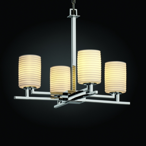 Justice Design Group Justice Design Group Limoges Collection Chandelier POR-8700-10-SAWT-CROM