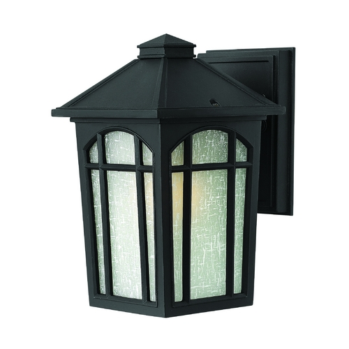 Hinkley Lighting Outdoor Wall Light with White Glass in Black Finish 1980BK