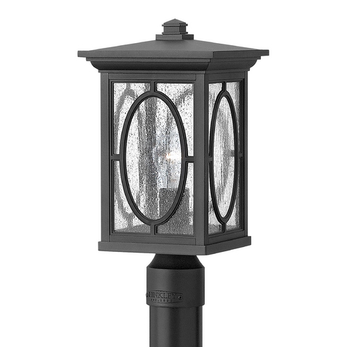 Hinkley Lighting Post Light with Clear Glass in Black Finish 1491BK