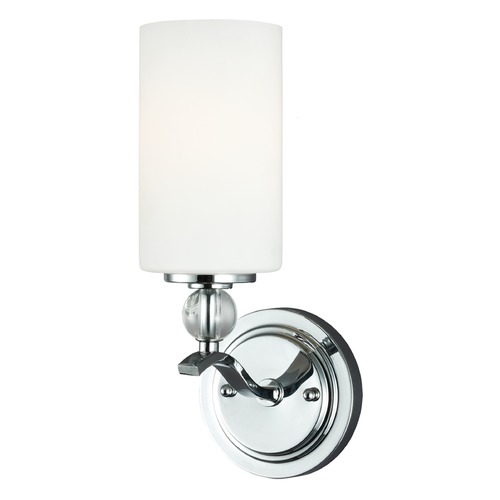 Sea Gull Lighting Sea Gull Lighting Englehorn Chrome / Optic Crystal Sconce 4113401BLE-05