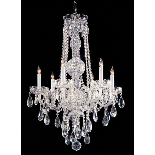 Crystorama Lighting Crystorama Traditional 6-Light Crystal Chandelier in Polished Chrome 1105-CH-CL-MWP