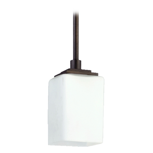Quorum Lighting Mid-Century Modern Mini-Pendant Light Oiled Bronze Delta by Quorum Lighting 3084-86