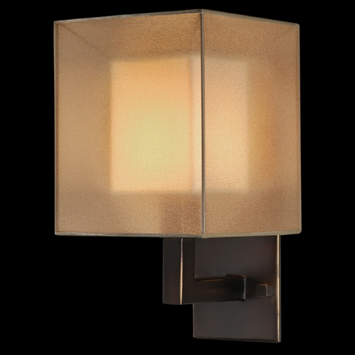 Fine Art Lamps Fine Art Lamps Quadralli Rich Bourbon with Golden Mist Highlights Sconce 331150ST
