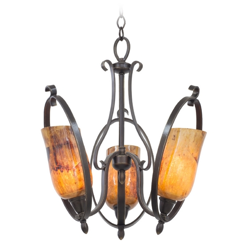 Kalco Lighting Kalco Lighting Mateo Heirloom Bronze Mini-Chandelier 7237HB/PENSH