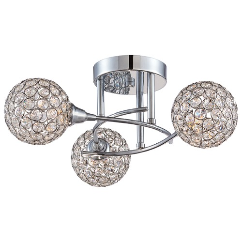 Quoizel Lighting Quoizel Platinum Collection Shimmer Polished Chrome Semi-Flushmount Light PCSR1716C