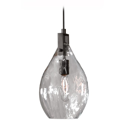 Uttermost Lighting Uttermost Campester 1 Light Watered Glass Mini Pendant 22049