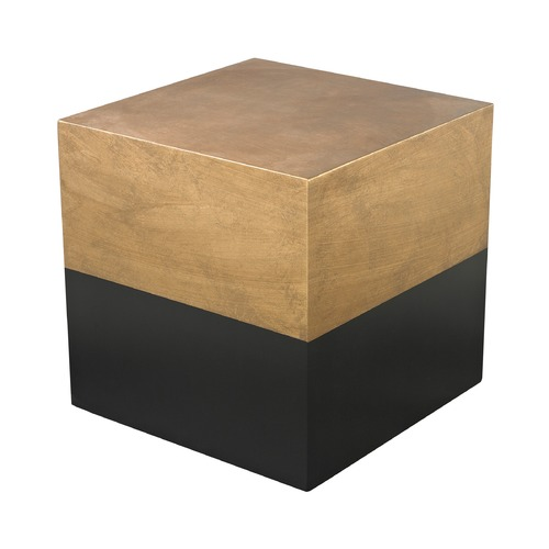 Dimond Lighting Black And Gold Draper Cube Table 114-122