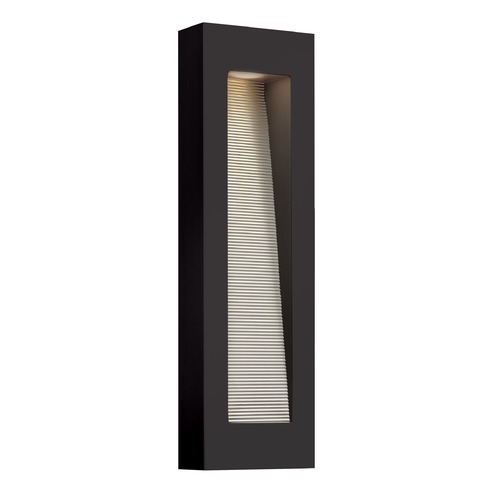 Hinkley Lighting Hinkley Lighting Luna Satin Black LED Outdoor Wall Light 1669SK-LED