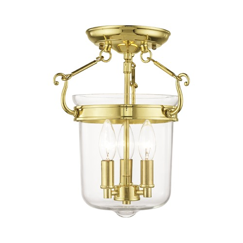 Livex Lighting Livex Lighting Rockford Polished Brass Semi-Flushmount Light 50481-02