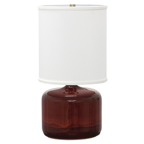 House of Troy Lighting House of Troy Scatchard Copper Red Table Lamp with Cylindrical Shade GS120-CR
