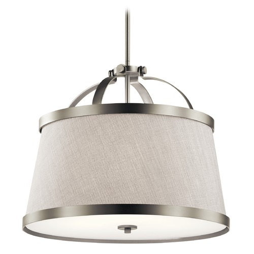 Kichler Lighting Transitional Pendant Light Brushed Nickel Amarena by Kichler Lighting 44108NI
