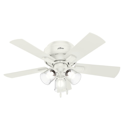 Hunter Fan Company Hunter 42-Inch Fresh White LED Ceiling Fan with Light 52152