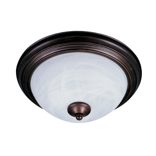 Maxim Lighting Close To Ceiling Light with White Glass in Oil Rubbed Bronze Finish 1940MROI