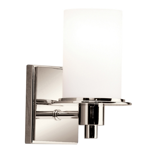 Kichler Lighting Kichler Polished Nickel Modern Sconce with White Glass 5436PN