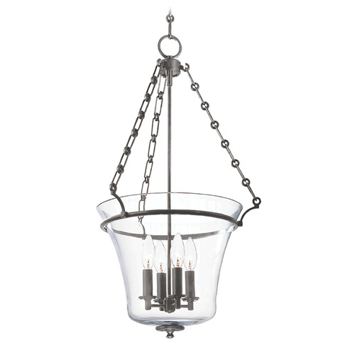 Hudson Valley Lighting Pendant Light with Clear Glass in Historic Nickel Finish 833-HN
