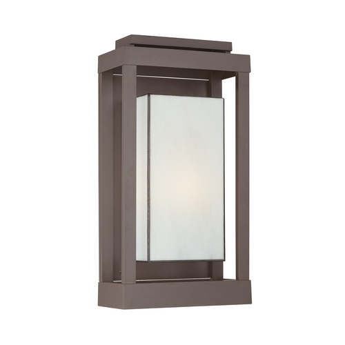Quoizel Lighting Outdoor Wall Light with Art Glass in Western Bronze Finish PWL8311WT