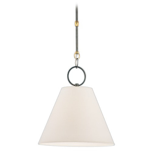 Hudson Valley Lighting Modern Pendant Light with White Paper Shade in Distressed Bronze Finish 5612-DB