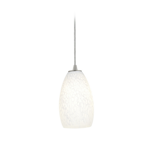Access Lighting Modern Mini-Pendant Light with White Glass 28012-2C-BS/WHST