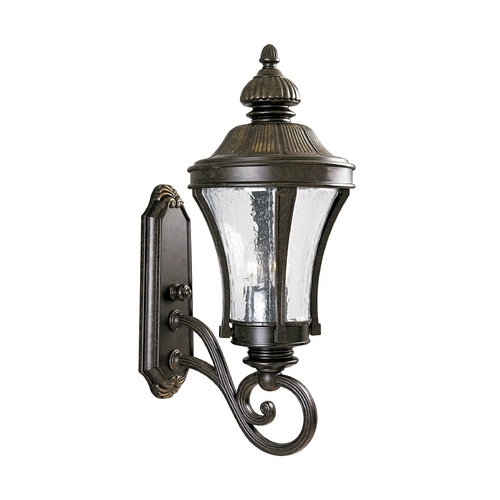 Progress Lighting Progress Outdoor Wall Light with Clear Glass in Forged Bronze Finish P5838-77