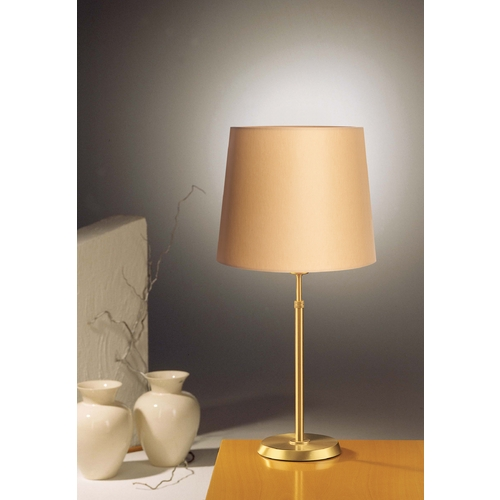 Holtkoetter Lighting Holtkoetter Modern Table Lamp with Beige / Cream Shade in Brushed Brass Finish 6263 BB KPRG