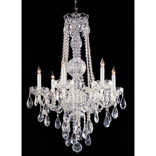 Crystorama Lighting Crystorama Lighting Traditional Crystal Polished Chrome Chandelier 1105-CH-CL-S