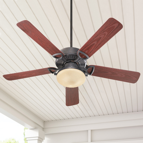 Quorum Lighting Quorum Lighting Estate Patio Toasted Sienna Ceiling Fan with Light 143525-944