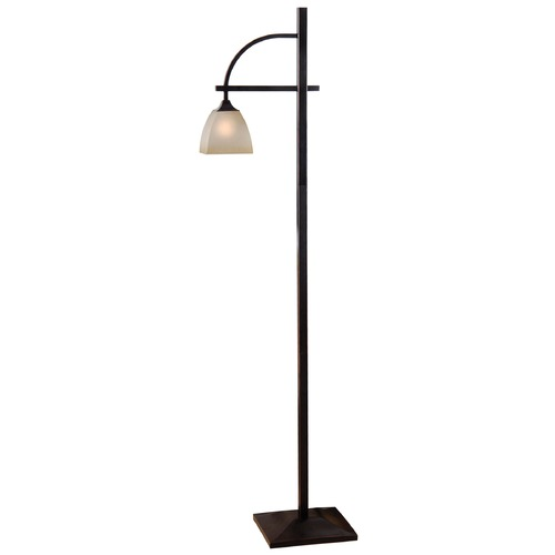 Kenroy Home Lighting Kenroy Home Lighting Arch Oil Rubbed Bronze Floor Lamp with Rectangle Shade 32291ORB