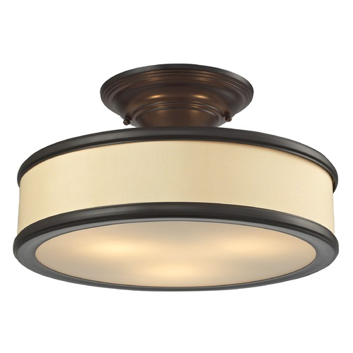 Elk Lighting Elk Lighting Clarkton Oil Rubbed Bronze Semi-Flushmount Light 31529/3