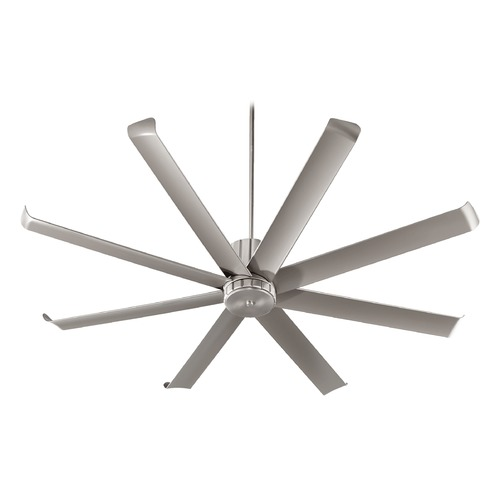 Quorum Lighting Quorum Lighting Proxima Patio Satin Nickel Ceiling Fan Without Light 196728-65