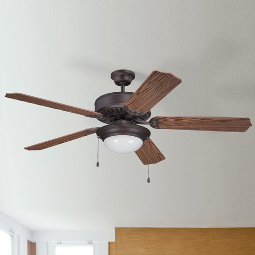 Craftmade Lighting Craftmade Pro Builder 209 Aged Bronze Brushed Ceiling Fan with Light K11206