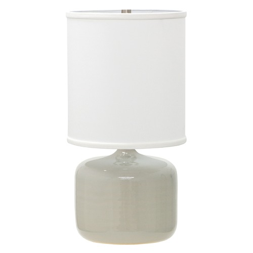 House of Troy Lighting House Of Troy Scatchard Gray Gloss Table Lamp with Cylindrical Shade GS120-GG