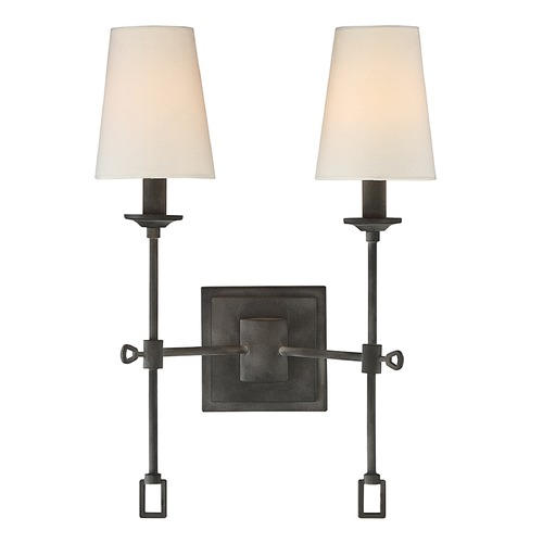 Savoy House Savoy House Lighting Lorainne Oxidized Black Sconce 9-9004-2-88