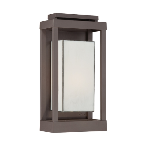 Quoizel Lighting Outdoor Wall Light with Art Glass in Western Bronze Finish PWL8309WT