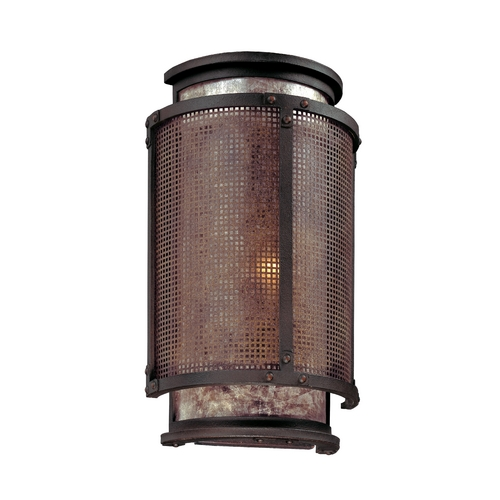 Troy Lighting Sconce with Grey Mica in Old Silver Finish B3101