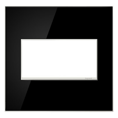 Legrand Adorne Legrand Adorne Mirror Black 2-Gang Switch Plate AWM2GMB4