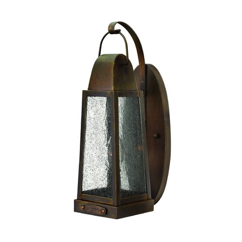 Hinkley Lighting Outdoor Wall Light with Clear Glass in Sienna Finish 1770SN