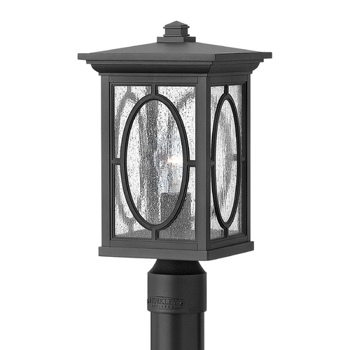 Hinkley Lighting LED Post Light with Clear Glass in Black Finish 1491BK-LED