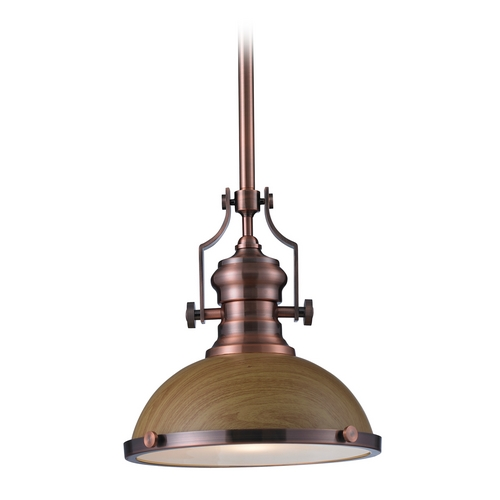 Elk Lighting Pendant Light in Antique Copper Finish 66544-1