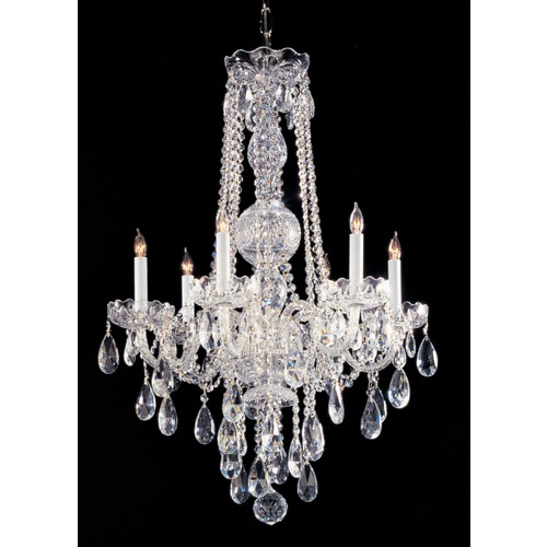 Crystorama Lighting Crystorama Lighting Traditional Crystal Polished Chrome Chandelier 1105-CH-CL-SAQ