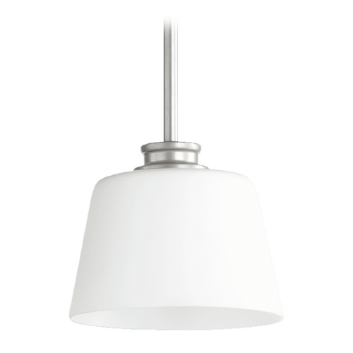 Quorum Lighting Quorum Lighting Friedman Classic Nickel Mini-Pendant Light with Empire Shade 3002-64